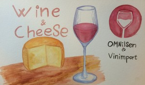 Wine and Cheese Water Color 600 x 350